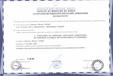 Dr-Miroslav-Veliky-Attestation-French-Cosmetic-surgery