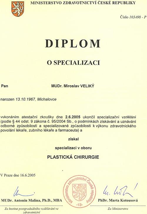 dr miroslav veliky, New plastic surgeon Dr Miroslav Veliky MD